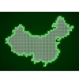 Pixel map of China vector image