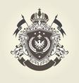 royal coat of arms - heraldic blazon with crown vector image