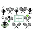 Tennis tournament icons vector image