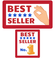 two bestseller signs vector image