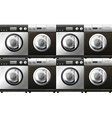 Washing machines in black and white vector image