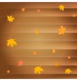 Happy thanksgiving day greeting card with falling vector image vector image