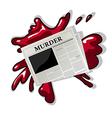 Newspaper murder icon vector image