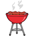 Grilled Sausages On Barbecue vector image vector image