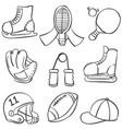 sport equipment various vector image