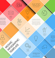 mosaic infographic template - pastel colors vector image vector image