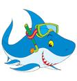 shark diver vector image vector image