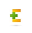 Letter E cross plus logo icon design template vector image vector image