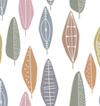 Tree leaves abstract pattern vector image