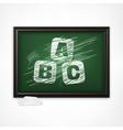 ABC on blackboard vector image