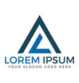 al or la pyramid modern letter logo design vector image