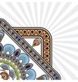 Bohemic design multicolored icon decoration vector image