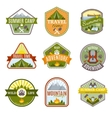 Camping Emblems Icon Set vector image
