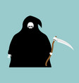 fat grim reaper with scythe isolated death in vector image