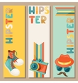 Hipster style vertical banners vector image