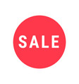 sale circle sign simple icon for sale or shopping vector image