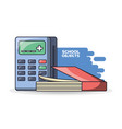 school supplies books calculator education concept vector image