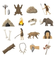 Stone Age Icons vector image