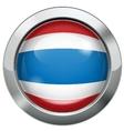 Thailand flag metal button vector image