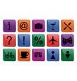 Tourist travel icon set vector image