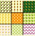 vegan food nature seamless pattern restaurant vector image
