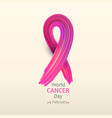 world cancer day with texture vector image