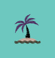 flat icon design collection palm tree and vector image