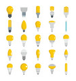light bulbs set for design and vector image