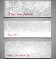 Christmas Banners Set 3 vector image