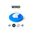 Wind icon in different style vector image