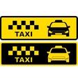 black and yellow taxi symbol vector image vector image