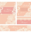 Wedding invitation with lace flowers vector image