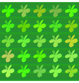 Clover flower pattern vector image