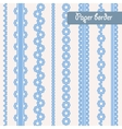 Baby shower set of border for boy vector image