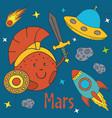 cartoon funny mars vector image