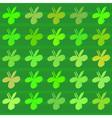 Clover flower pattern vector image
