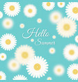 cute background with daisies vector image