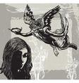 Guardian Angel Condolences - Hand drawn vetor vector image