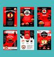 Japanese restaurant and sushi bar menu template vector image