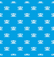 thailand temple pattern seamless blue vector image