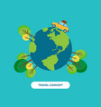 travel around the world concept flat design vector image