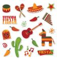 Mexican stickers vector