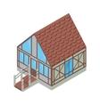 Tudor style house vector image