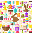 white easter seamless pattern vector image