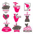 dress boutique or fashion atelier salon vector image