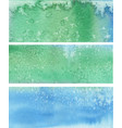 blue green painted banners vector image vector image
