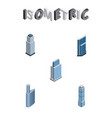 isometric building set of apartment residential vector image