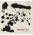 Ink stains set 7 vector image vector image