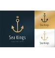 Anchor logo icon Sea sailor symbols vector image