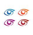 Eye logo conception vector image